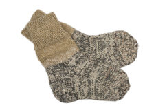 Knitting socks Stock Photo
