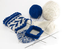 Knitting socks Royalty Free Stock Images