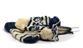 Knitting Socks Stock Photography