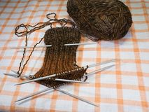 Knitting of socks Royalty Free Stock Image