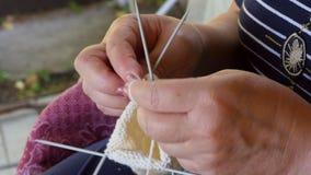 Knitting socks Stock Images