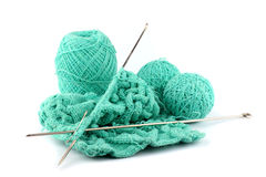 Knitting by spokes Royalty Free Stock Photo