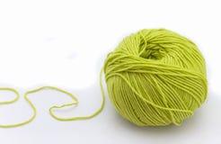 Knitting on spokes Royalty Free Stock Photo