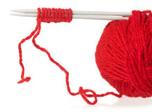 Knitting spokes Royalty Free Stock Photos