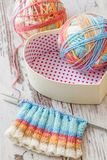 Knitting with Spokes Stock Image