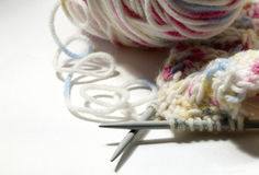 Knitting on the spokes Stock Photography