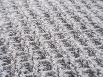 knitting Structuur en patroon van stof stock foto's