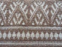 knitting Structuur en patroon van stof stock afbeeldingen