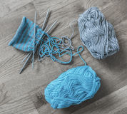 Knitting supplies Stock Photography