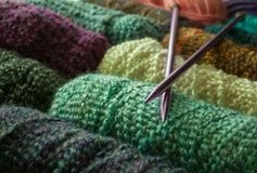 Knitting Supplies Royalty Free Stock Photography