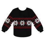Knitting sweater with Christmas star Royalty Free Stock Photo