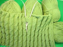 Knitting and thread Royalty Free Stock Photography