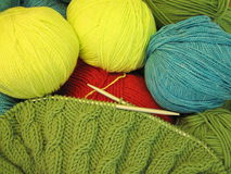 Knitting and threads Royalty Free Stock Photo