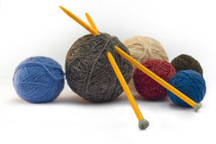 Knitting, threads Royalty Free Stock Photo