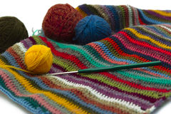 Knitting, threads Royalty Free Stock Image