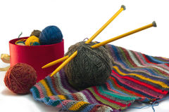 Knitting, threads Stock Photo