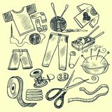 Knitting tools royalty free illustration