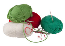 Knitting tools Stock Images