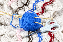 Knitting tools Stock Photo