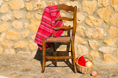 Knitting under the sun Royalty Free Stock Image
