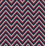 Knitting USA colors pattern sweater battlement Stock Images
