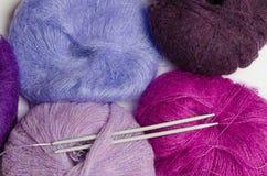 Knitting utensils Stock Images