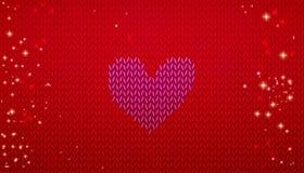 Knitting Valentine banner Stock Photo