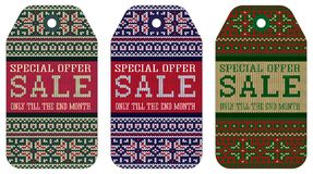 Knitting varicolored pattern ornament christmas sale Royalty Free Stock Photography