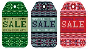Knitting varicolored pattern ornament christmas sale Royalty Free Stock Photo