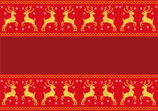 Knitting winter deer Stock Photo