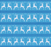 Knitting winter deer Royalty Free Stock Photography