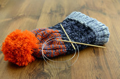 Knitting wolly hat Royalty Free Stock Photo