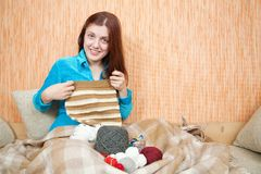 Knitting woman Stock Images