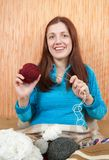 Knitting woman Stock Photos