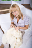 Knitting woman Stock Photography