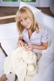 Knitting woman Stock Photography