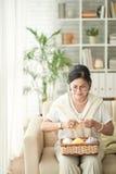 Knitting woman Royalty Free Stock Photo