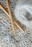Knitting with Wool Stock Image