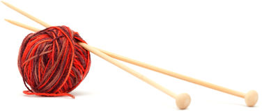 Knitting wool Royalty Free Stock Photos