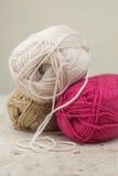 Knitting Wool Royalty Free Stock Photos