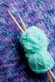 Knitting - wool and needles Royalty Free Stock Image
