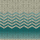 Knitting wool pattern, seamless fabric textile Stock Images