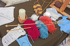 Knitting wool Stock Image