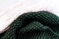 Knitting wool texture background. Colorful knitted horizontal t Stock Photography