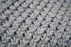 Knitting wool texture background. Knitting wool texture background gray Stock Images