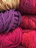 Knitting wool texture Stock Photos
