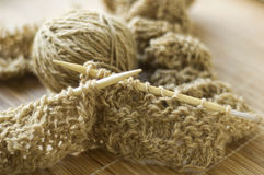 Knitting and wool yarn Royalty Free Stock Photos