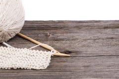 Knitting and wool yarn Stock Photos