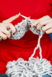 Knitting of woolen yarn. Stock Photography