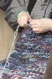 Knitting workwoman Royalty Free Stock Photography